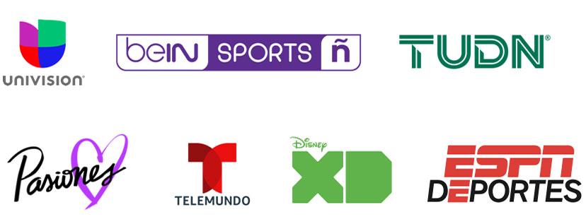 univision, bein Sports Espanol, TUDN, Pasiones, telemundo, Disney XD, ESPN Deportes